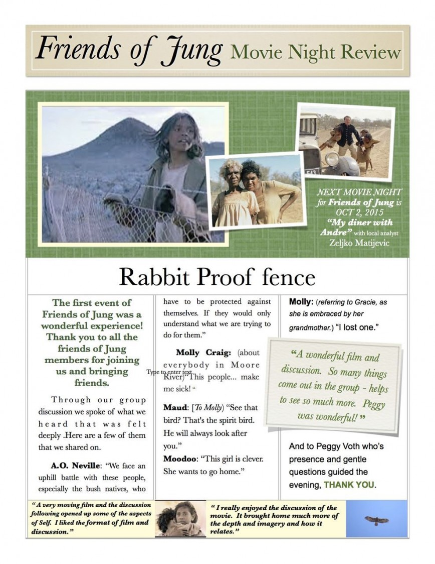 005 Essay Example Rabbit Proof Fence Review Top Film 868