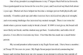 005 Essay Example Scholarship What To Write For Awesome A How That Stands Out In About Yourself Good