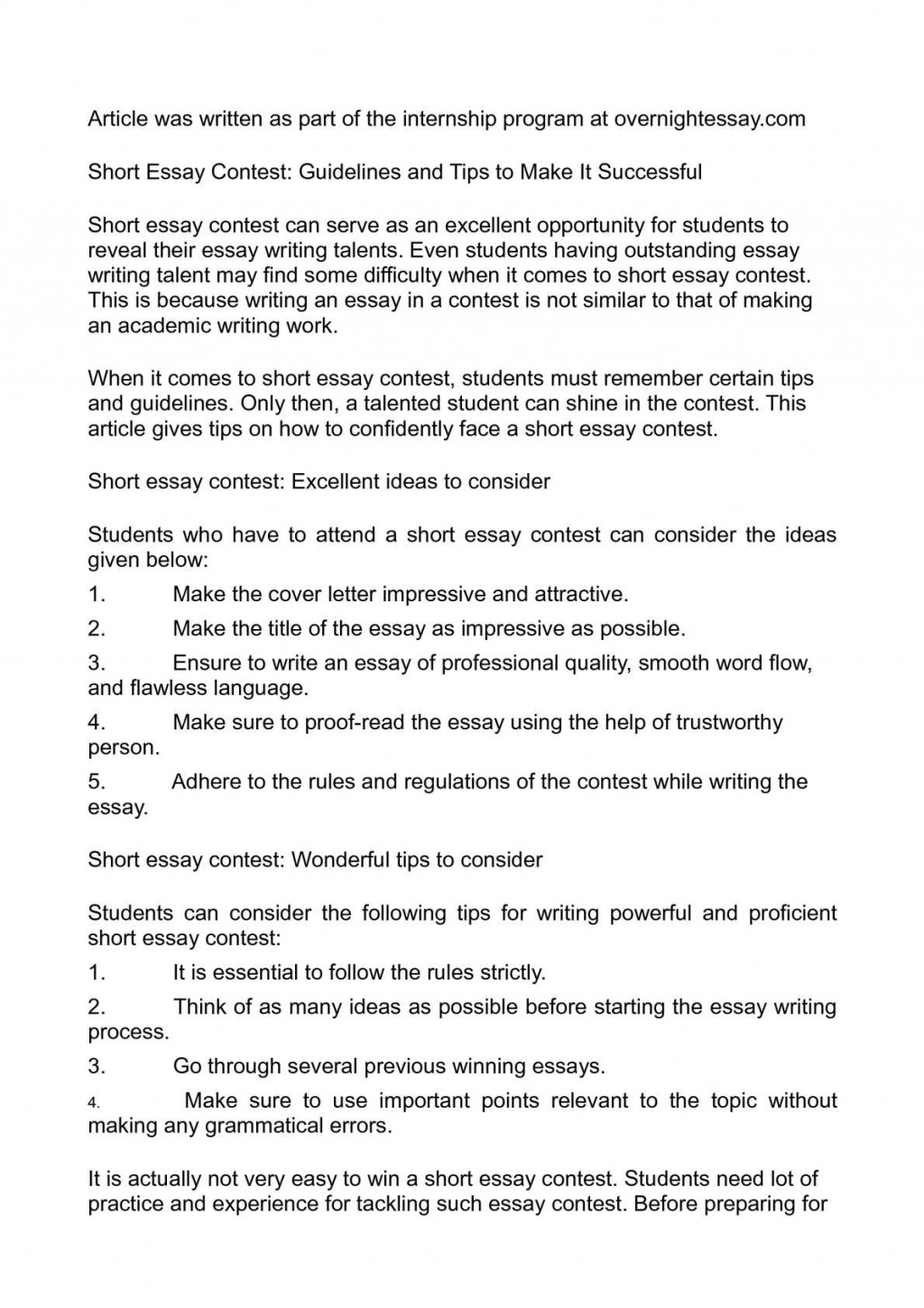 005 Essay Example Short Essays Impressive Examples For Primary School Narrative To Read Small In Spanish Large