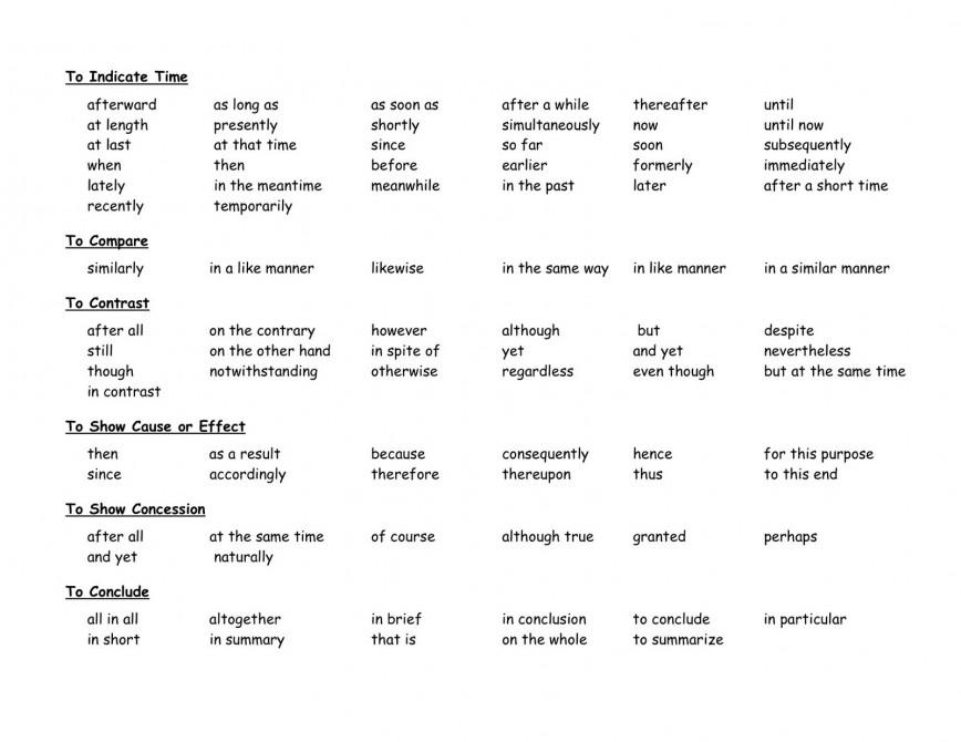 005 Essay Example Transitional252bwords252bworksheet252b04252b3252b2007 Big Words To Use In Breathtaking Essays Persuasive List Of