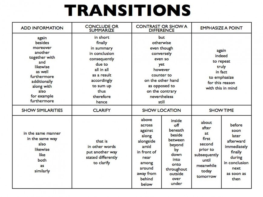 005 Essay Example Transitions 4995883 1 Orig Archaicawful Transition Words In Spanish Comparative Sentences List 868