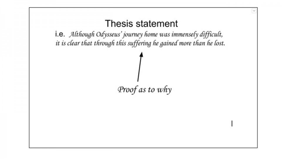 Do comparative essays need a thesis statement