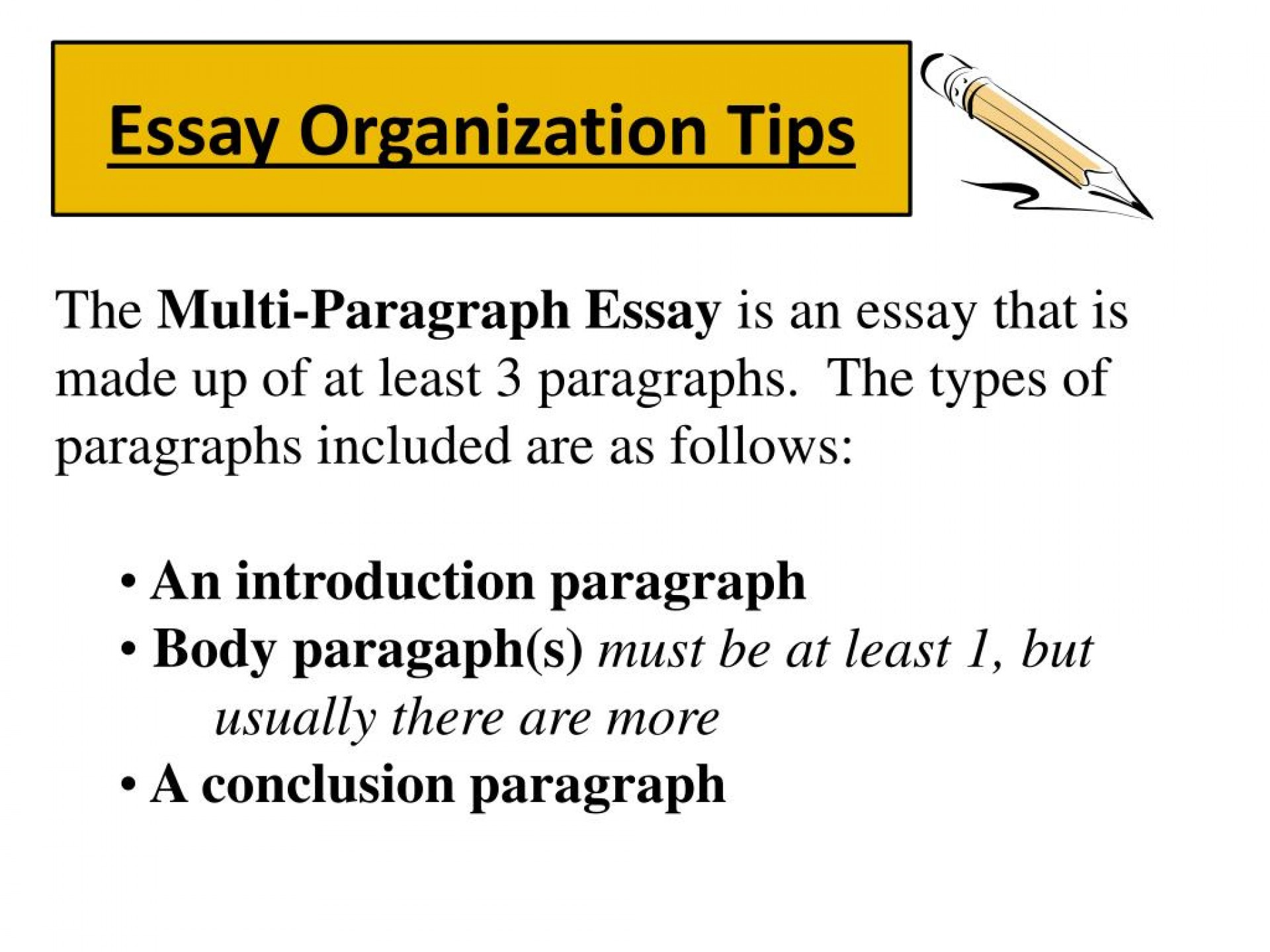 005 Essay Organization Tips L Multi Paragraph Best Graphic Organizer Outline 1920