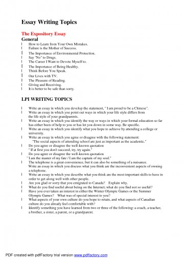 005 Essay Topics To Write About Arguable Good L Example Awful Exploratory Technology For College Medicine 360