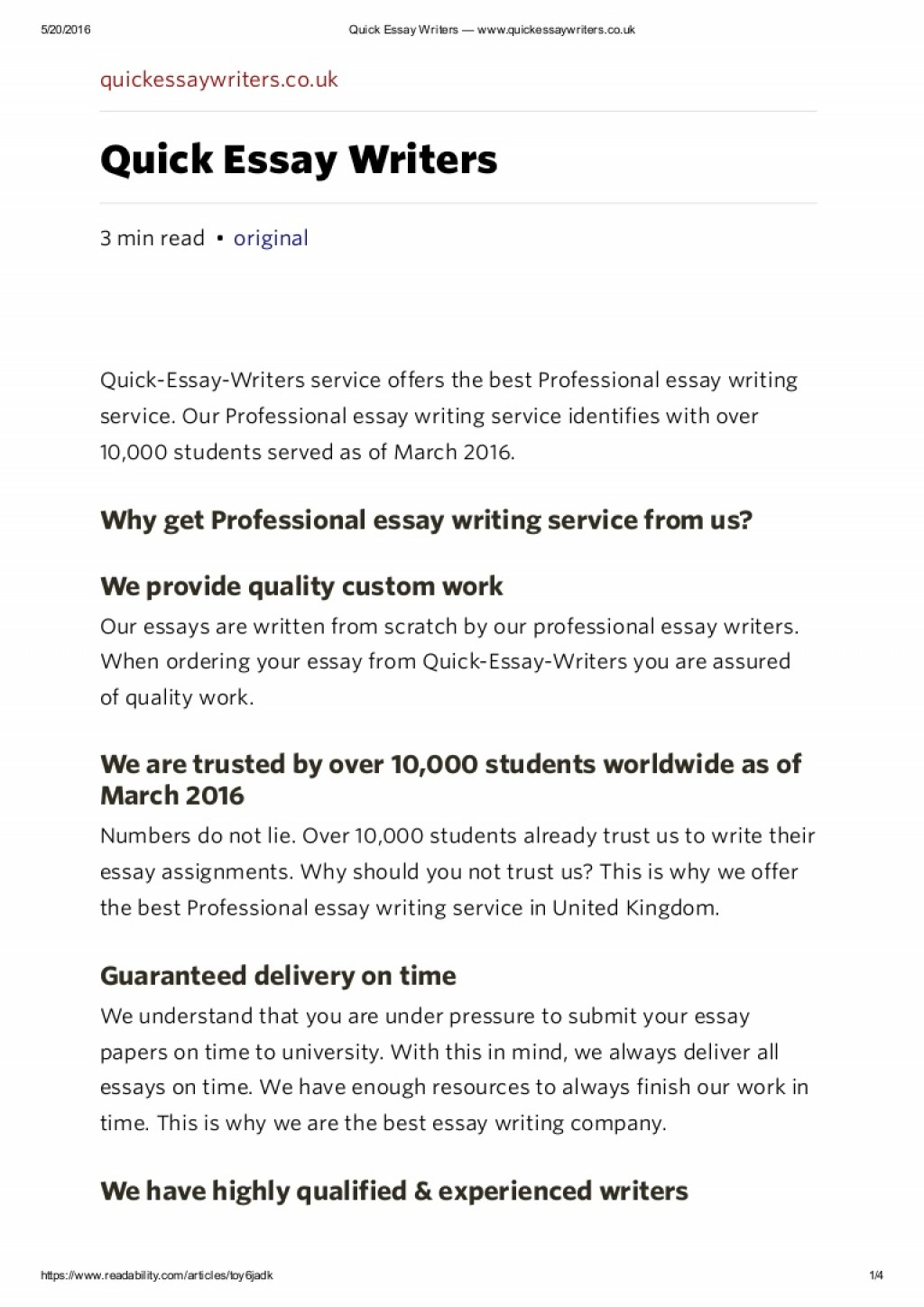 005 Essay Writers Uk Example Professionalessaywritingservicequickessaywriterswww Thumbnail Impressive Large
