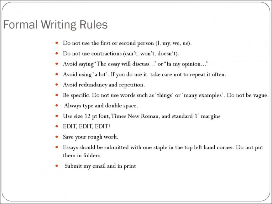 005 Essay Writing Rules Example Slide Awful Formal With Examples Competition And Regulations