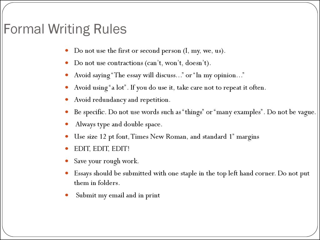 005 Essay Writing Rules Example Slide Awful And Regulations For Ielts With Examples Full