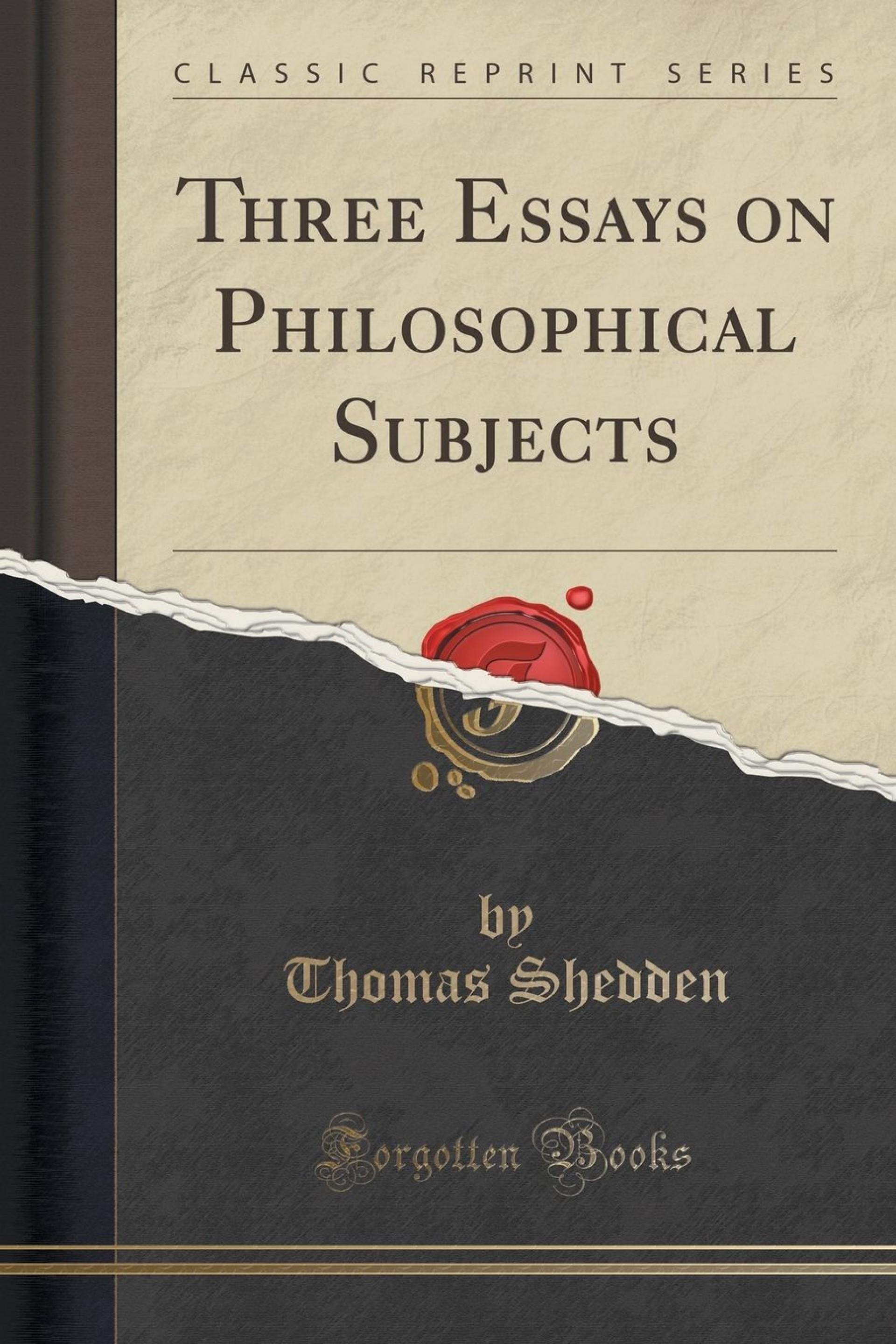 005 Essays On Philosophical Subjects Essay Example 71am4oec9 Best Smith Pdf 1920