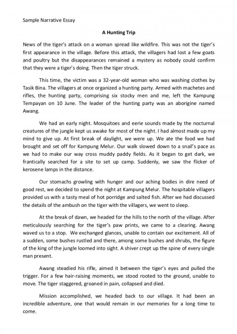 005 Example Of Narrative Essay Samplenarrativeessay Phpapp02 Thumbnail Imposing A Introduction Format About Love 480