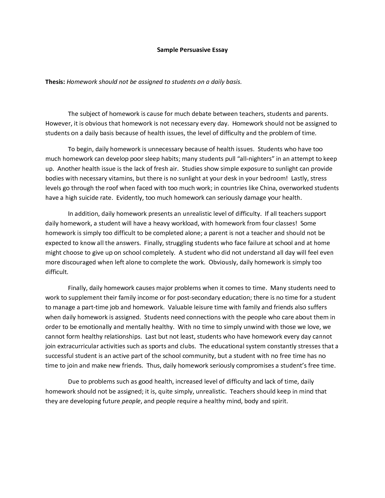 005 Example Persuasive Essay Unbelievable Topics High School About Bullying Outline Full