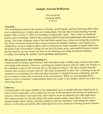 005 Examples Reflective Essay L Example How To Write Staggering A Thesis First Class 360