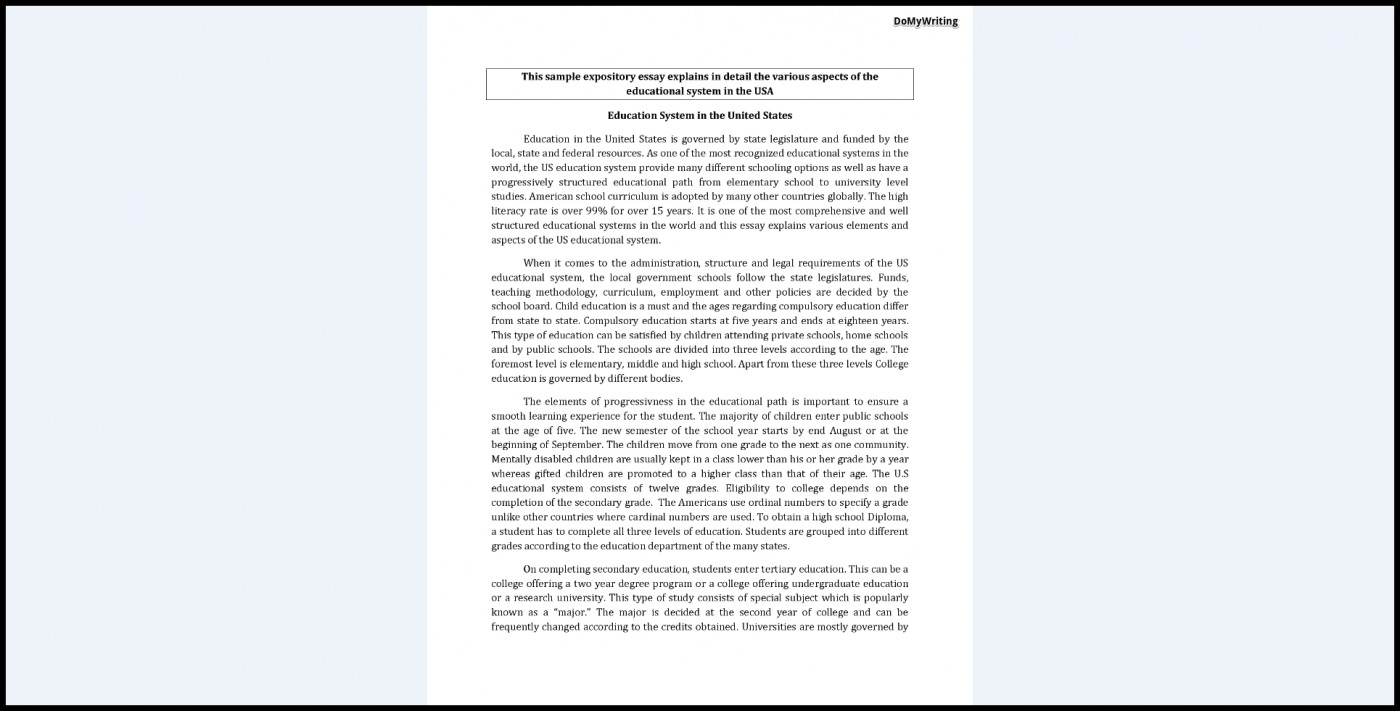 005 Expository Essay Examples Example Fascinating Format Mla Introduction Sample Apa 1400
