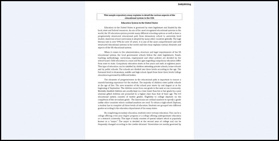 005 Expository Essay Examples Example Fascinating Format Mla Introduction Sample Apa 960