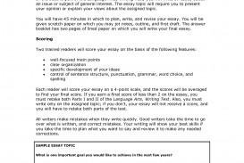 005 Ged Essay Topics Writing Test Samples 109105 Stirring List Examples Pdf