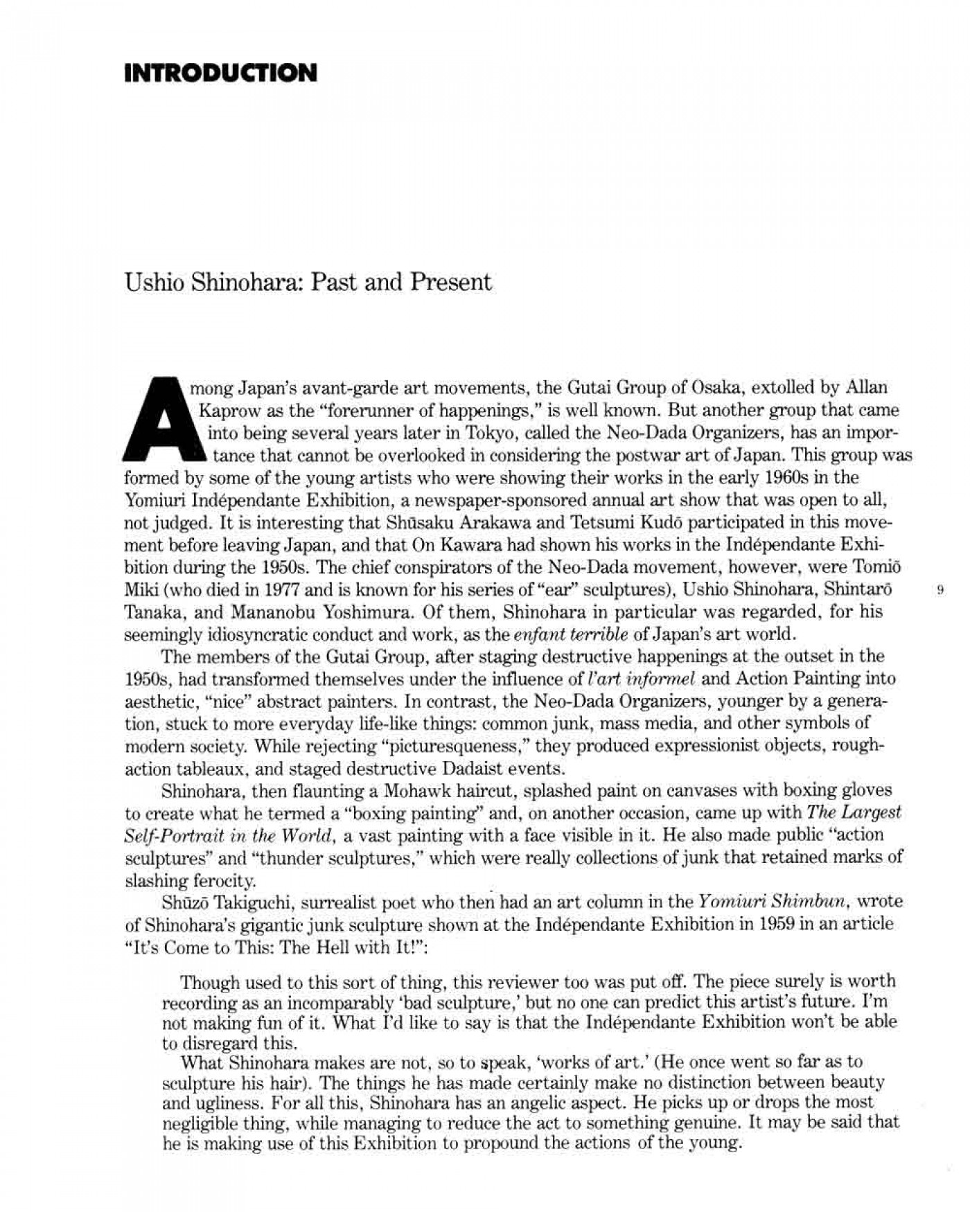 005 How To Cite An Essay Example Ushio Shinohara Past And Present Pg 1 Archaicawful Mla In A Book 8th Edition 1400
