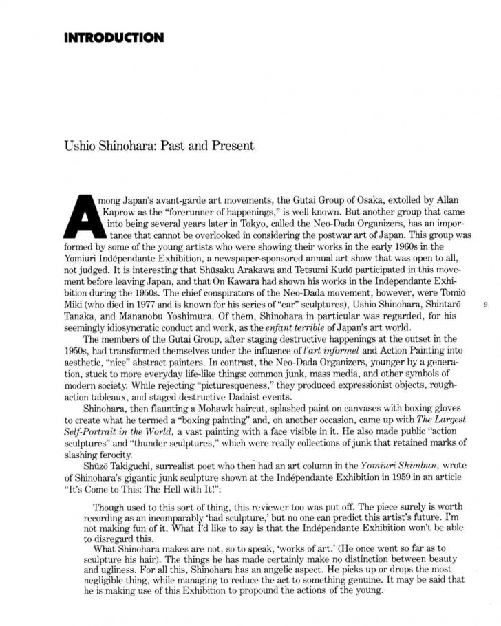 005 How To Cite An Essay Example Ushio Shinohara Past And Present Pg 1 Archaicawful In A Textbook Within Book Apa Mla 8 728