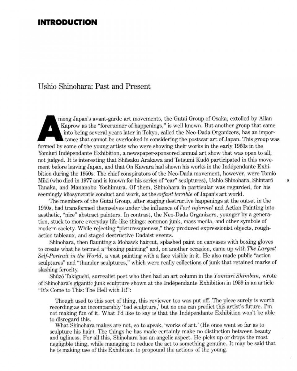 005 How To Cite An Essay Example Ushio Shinohara Past And Present Pg 1 Archaicawful In A Textbook Within Book Apa Mla 8 960