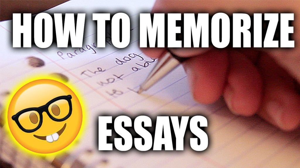 005 How To Memorise An Essay In Hour Example Unbelievable A Few Hours Remember 1 Large