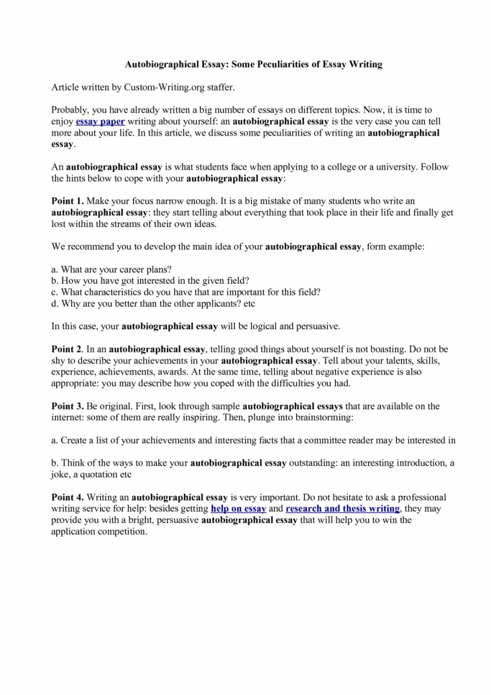 005 How To Start Autobiography Essay Example Of Telling About Yourself Shawn Weatherly Writing An Luxury Write Autobiographical For Job Written Graduate School Outline Singular Annotated Bibliography Examples A Good Scholarship 960