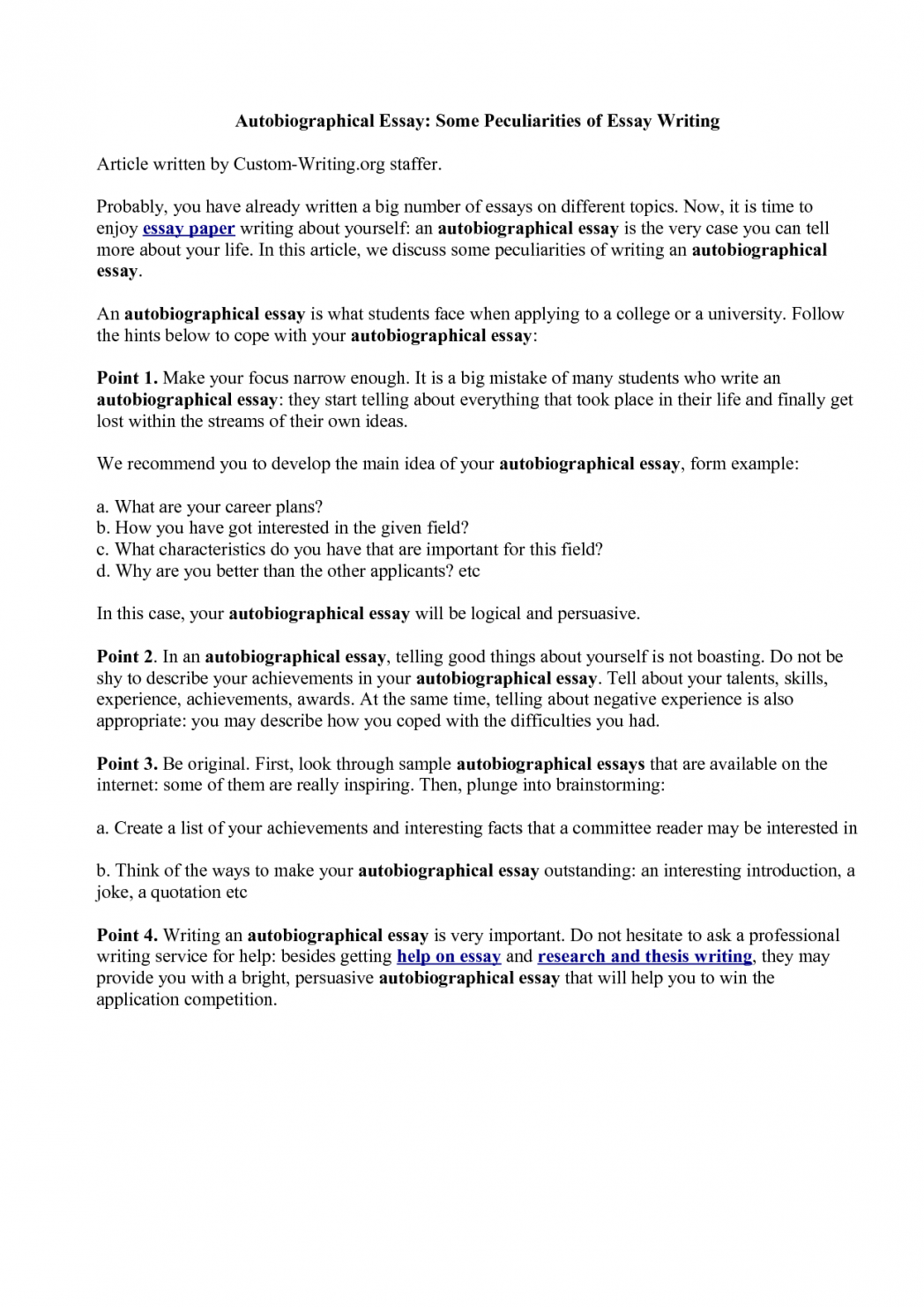 005 How To Start Autobiography Essay Example Of Telling About Yourself Shawn Weatherly Writing An Luxury Write Autobiographical For Job Written Graduate School Outline Singular Annotated Bibliography Examples A Good Scholarship Full