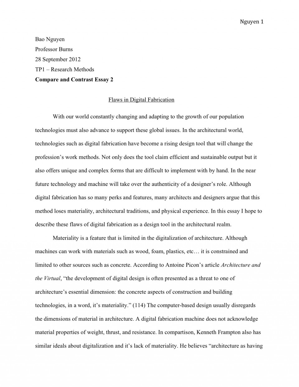 005 How To Write An Essay Example Tp1 3 Shocking About Yourself Without Using I For College English Introduction 960