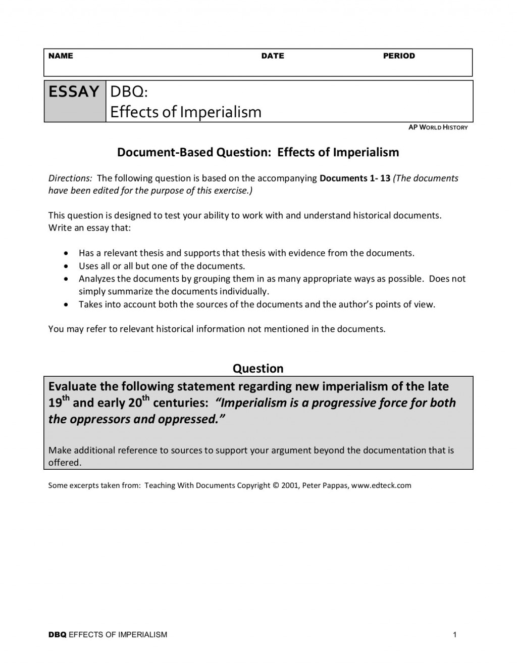 005 Imperialism Essay Example Awful Hook Topics Thesis Statement Large