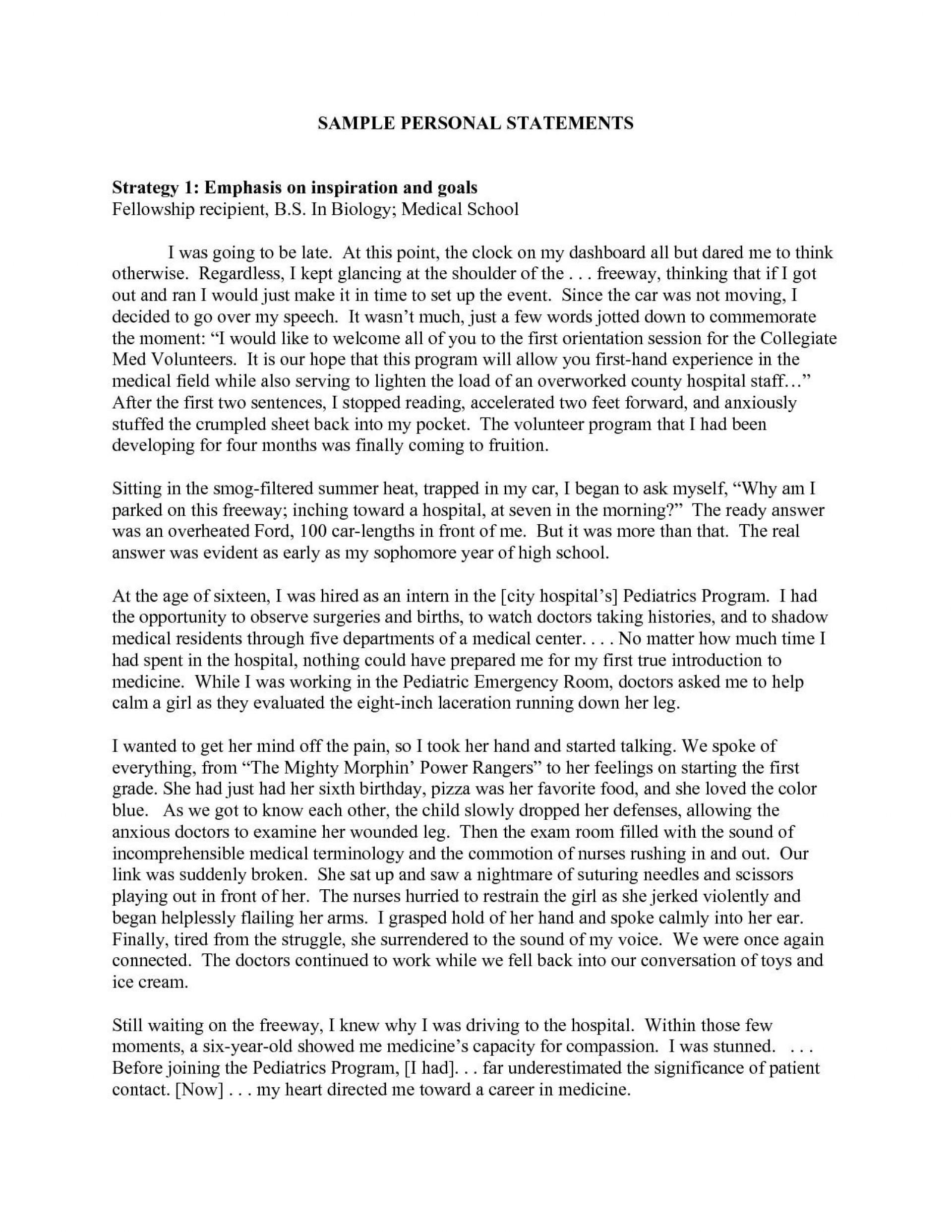 Essay for internship