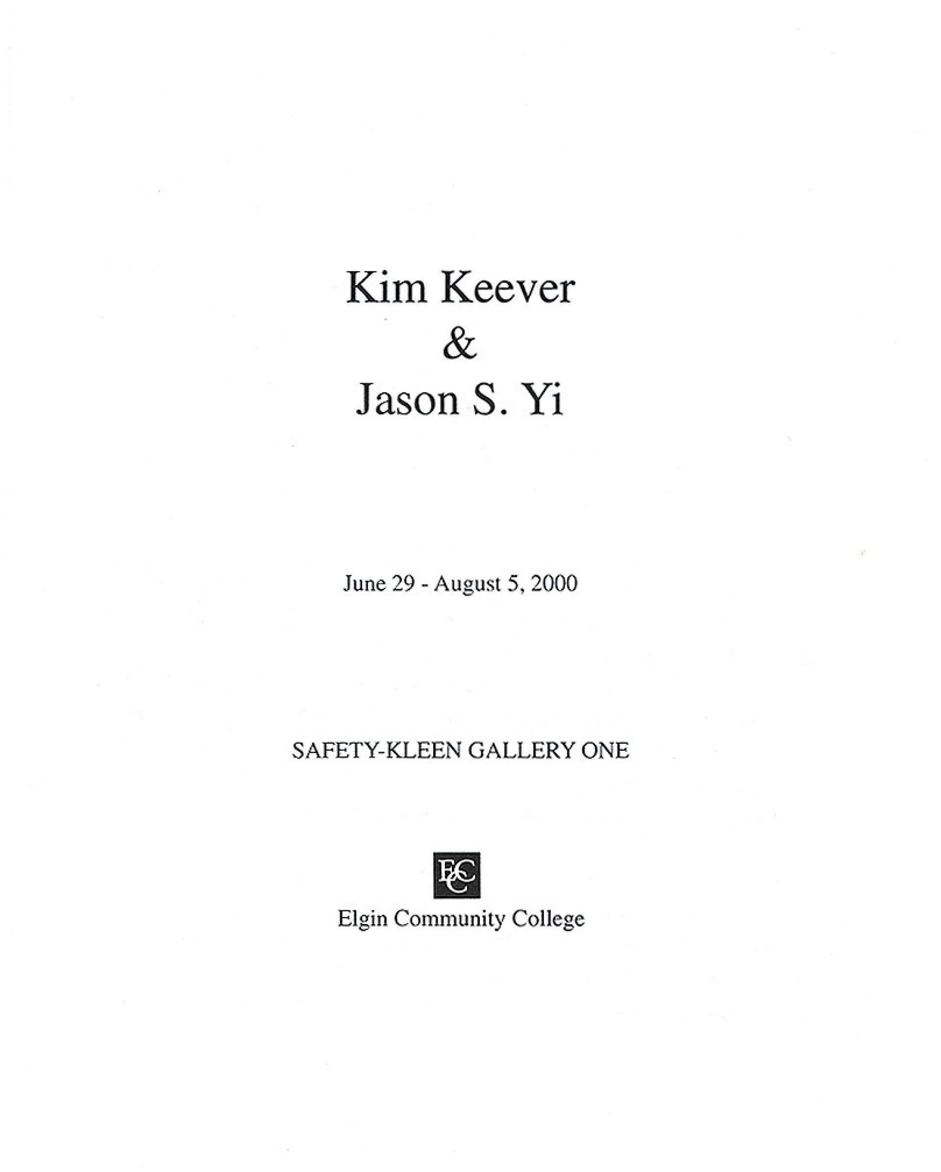 005 Jason Yi Catalog Title Page Essay Example What Is Cover For Awesome A An Does 2 Look Like Two Should I Put On Of 1920