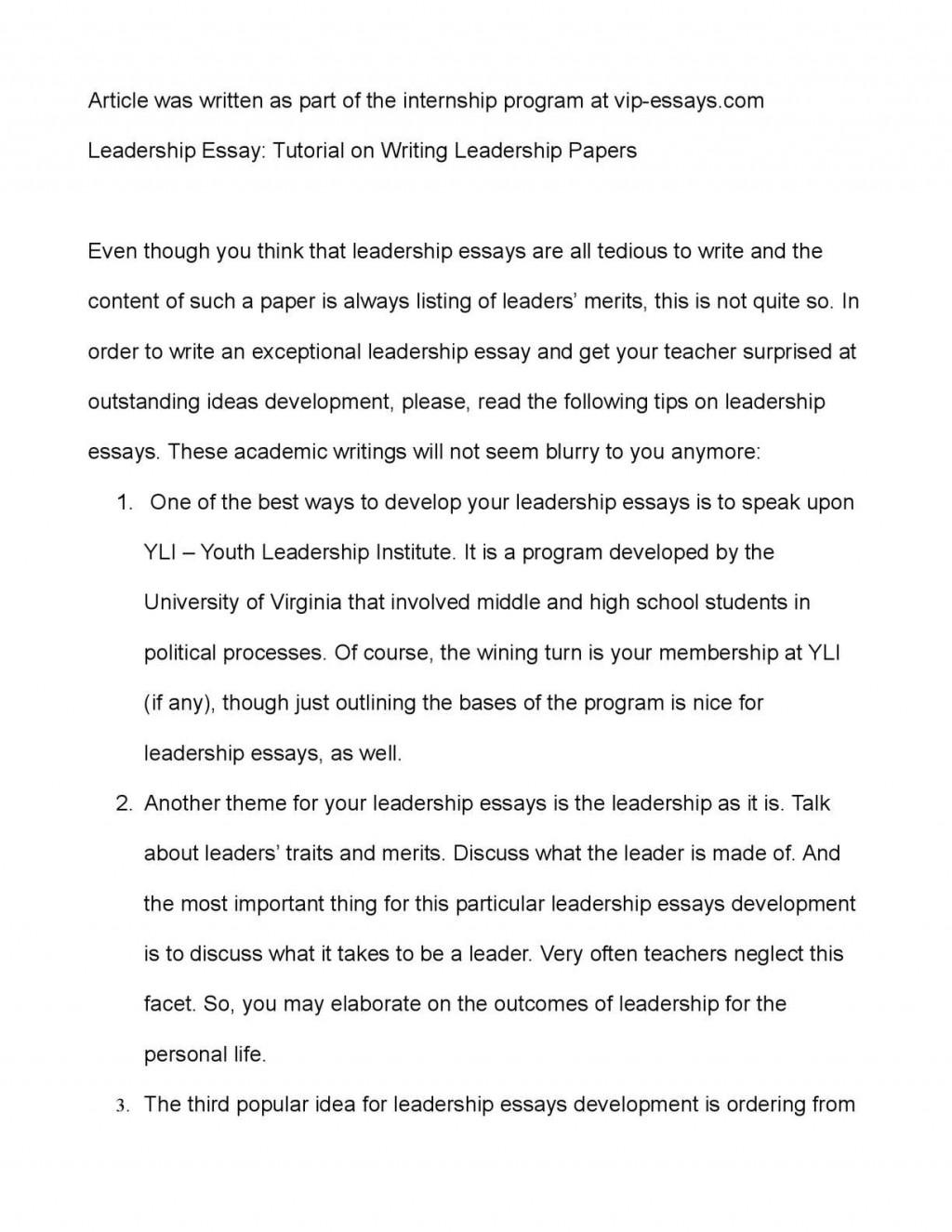 005 Leadership Essays P1 Essay Striking Mba Samples Pdf Large