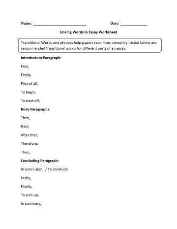 005 Linking Words In Essay Worksheet Connecting For Essays Incredible Ielts Comparison Pdf 360