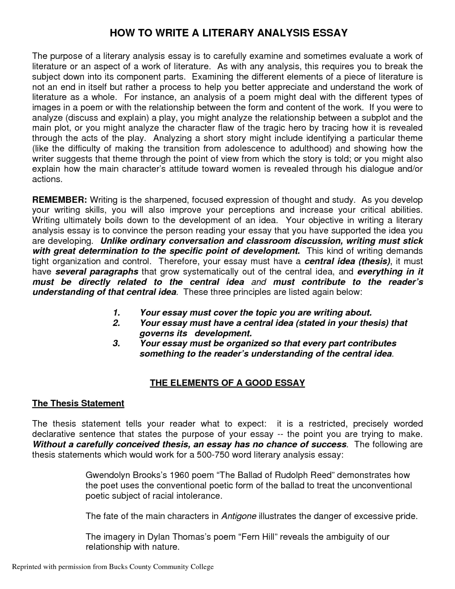 how to write a thesis sentence for an essay thesis creator write my  response to literature essay high school