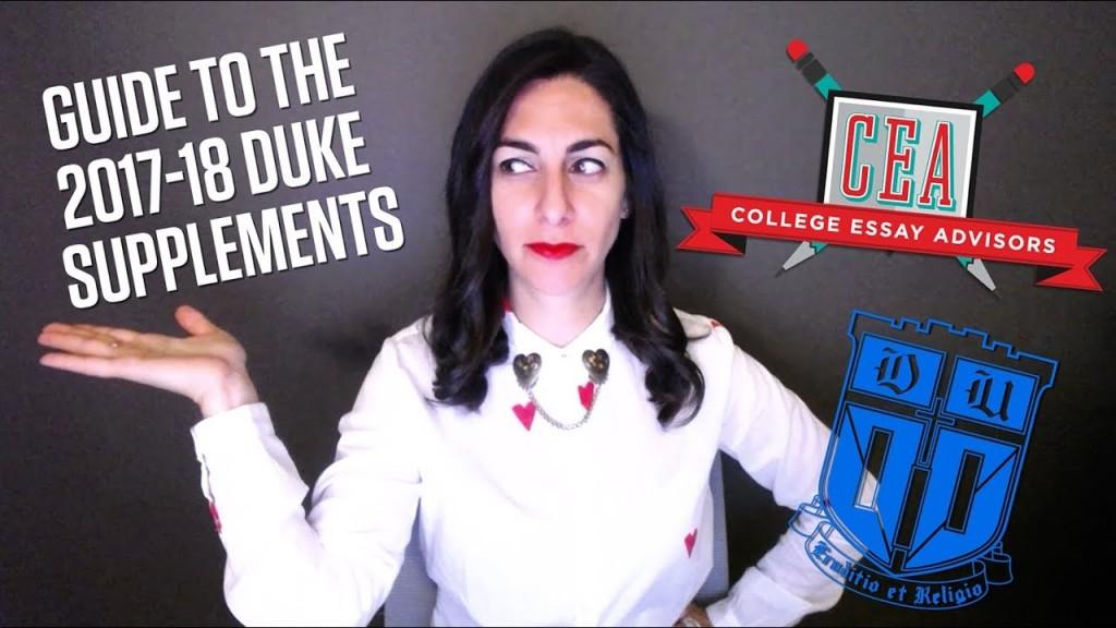 005 Maxresdefault Essay Example Duke Fearsome Supplement Collegevine Supplemental Reddit Large