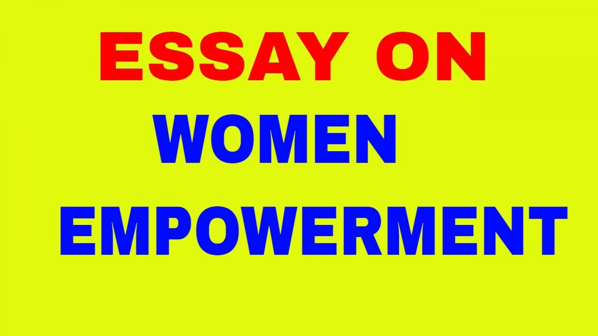 005 Maxresdefault Women Empowerment Essay Exceptional Pdf Gender Equality And Women's 1920