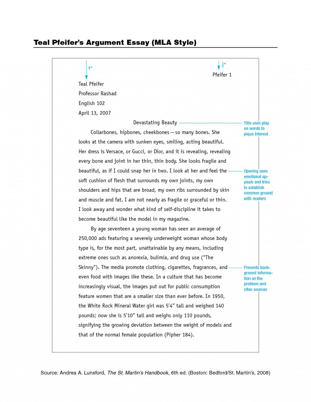 005 Mla Format Essays Essay Magnificent Persuasive Outline Example 2017 Large