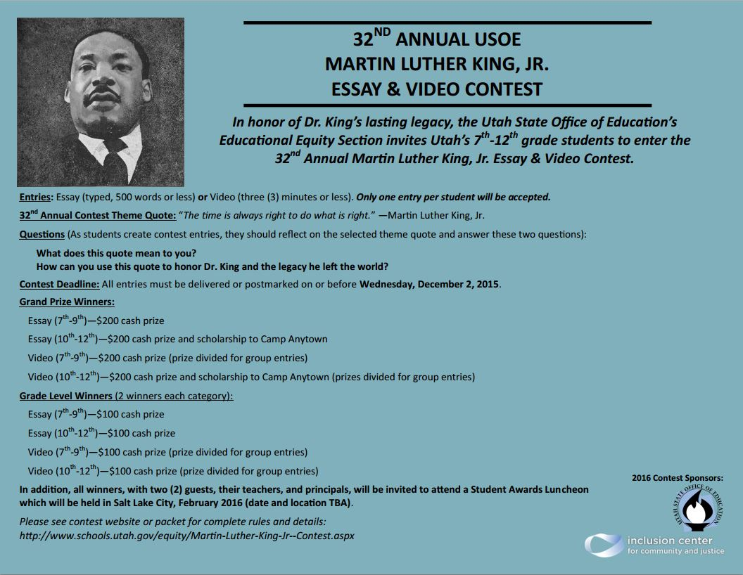 005 Mlk2016 Essay Example Best Mlk Conclusion Writing Prompts Contest 2017 Full