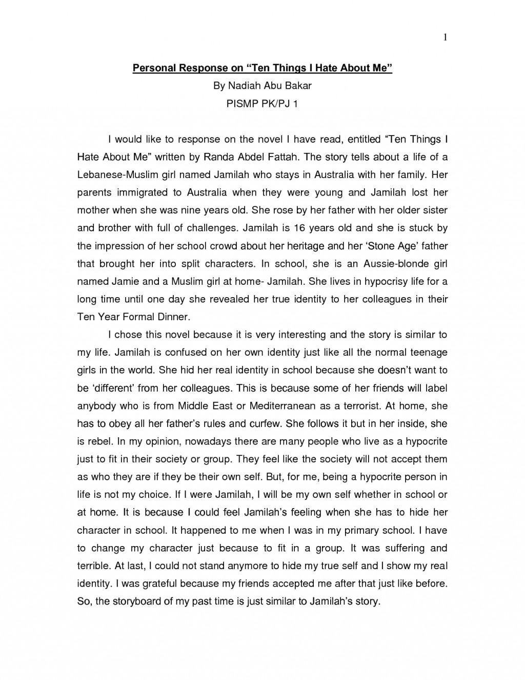 Personal narrative essay immigration