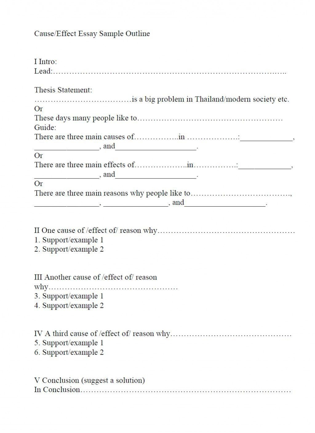 005 Opinion Essay Outline Format Toulmin Striking Method Large