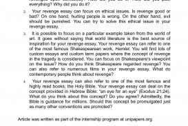 005 P1 Essay Example Outstanding Revenge Frankenstein Prompt Tragedy Hamlet