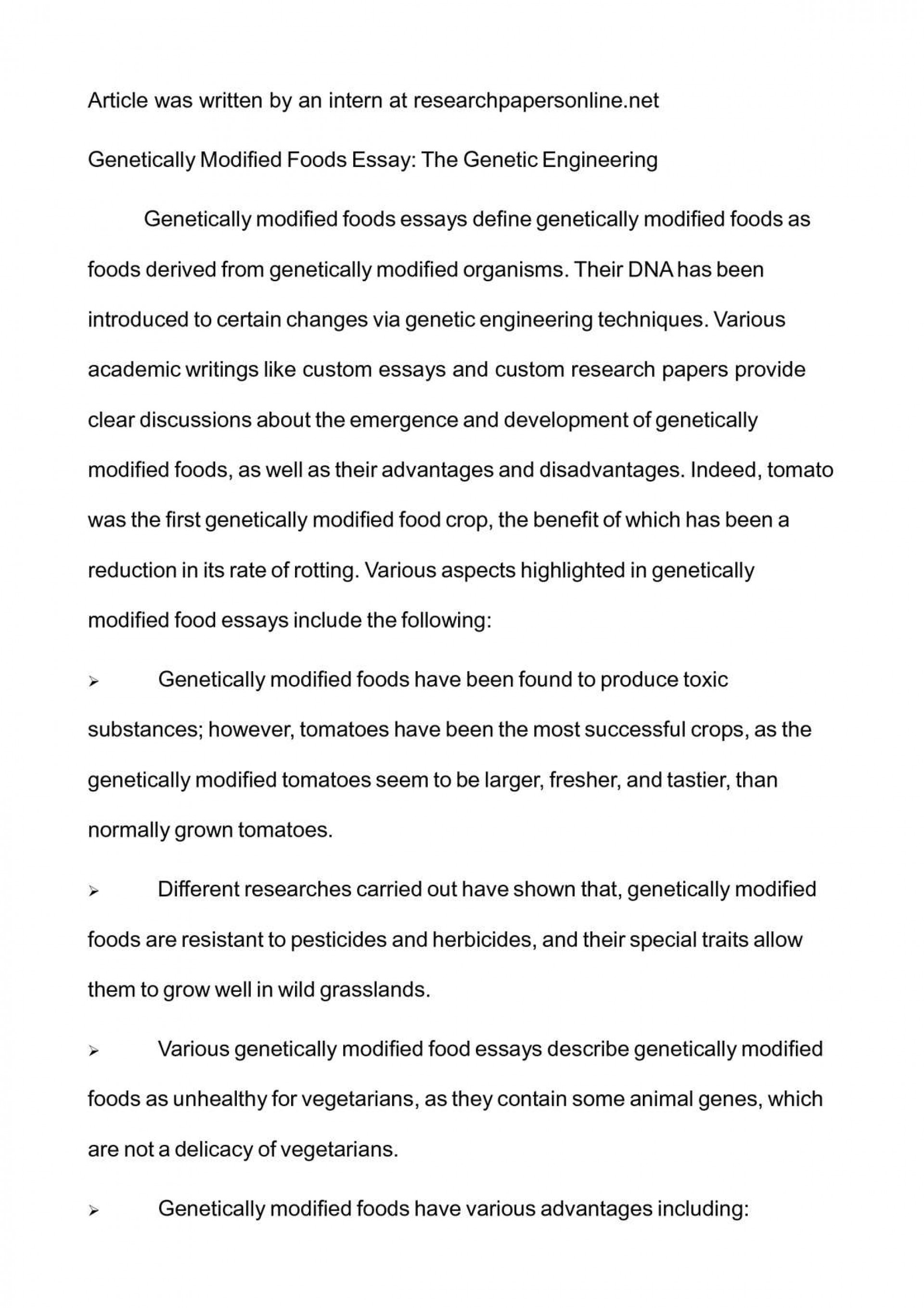 genetically modified food synthesis essay