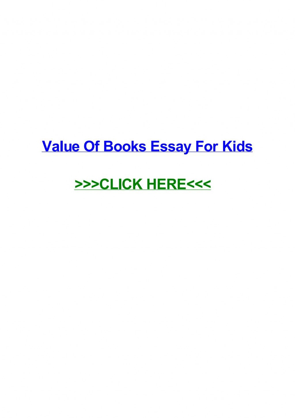 005 Page 1 Value Of Books Essay For Kids Unique Large