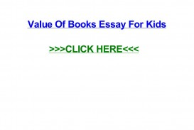 005 Page 1 Value Of Books Essay For Kids Unique