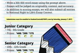 005 Pro Life Essay Persuasive On Prolife Abortion L Stupendous Contest 2018 2019 Titles