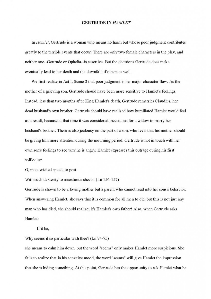 005 Profile Essays Examples Character Analysis Sample Essay Formal Characterization Paper Ex Example Characters Comparing 1048x1482 How To Write An Astounding On A Research