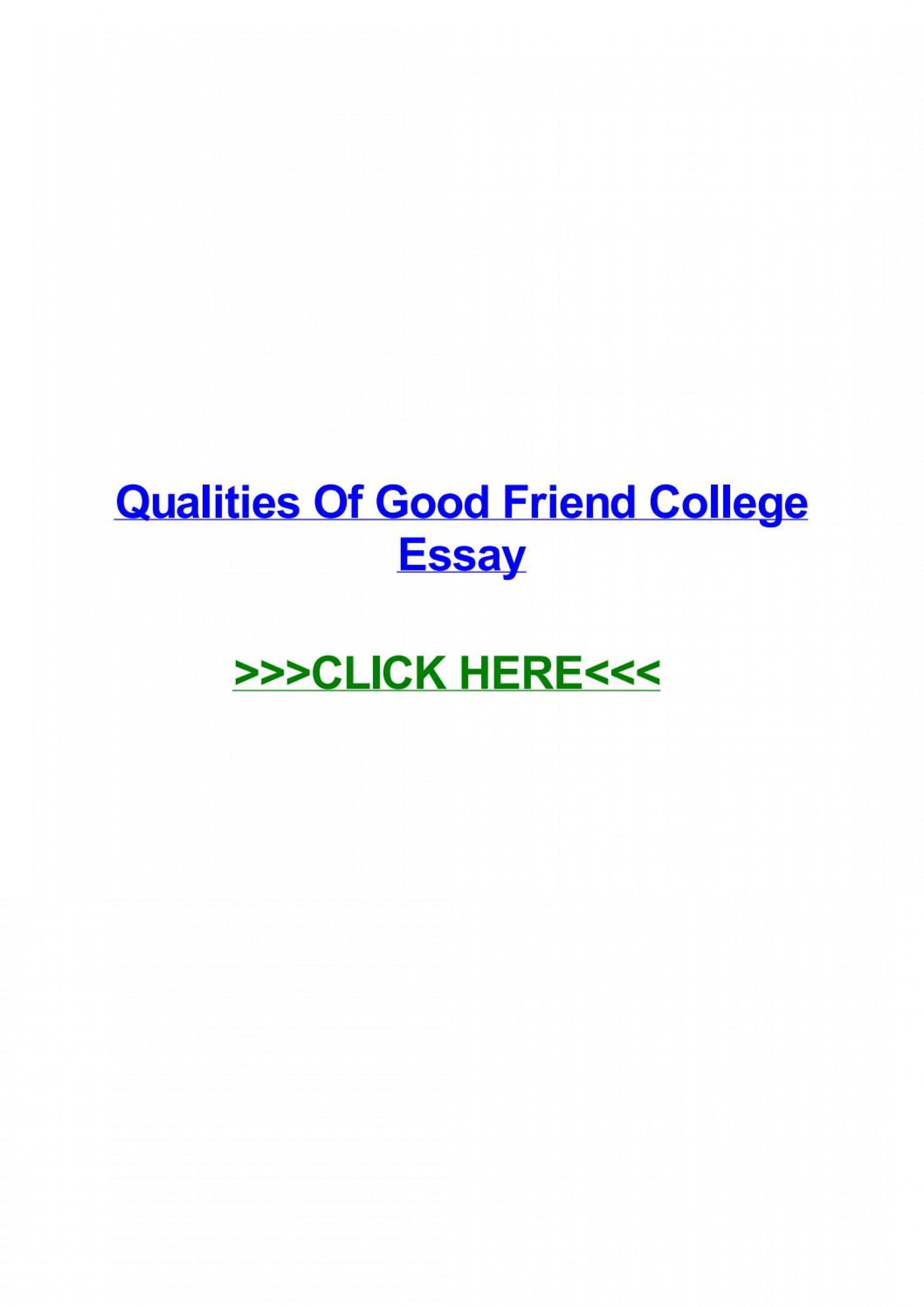 005 Qualities Of Good Friend Essay Page 1 Exceptional A Conclusion Expository My Best Should Have 1920