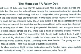 005 Rainy Day Essay English The2bmoonsoon Stupendous My In For Class 6 10