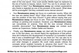 005 Renaissance Essay Example Surprising History Questions Art Thesis