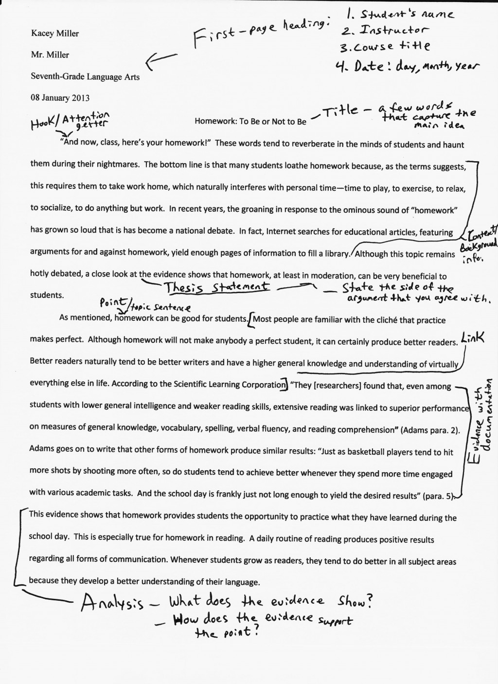 005 Sample National Junior Honor Society Essay Njhs Example T Topics Examples Unique Conclusion Large