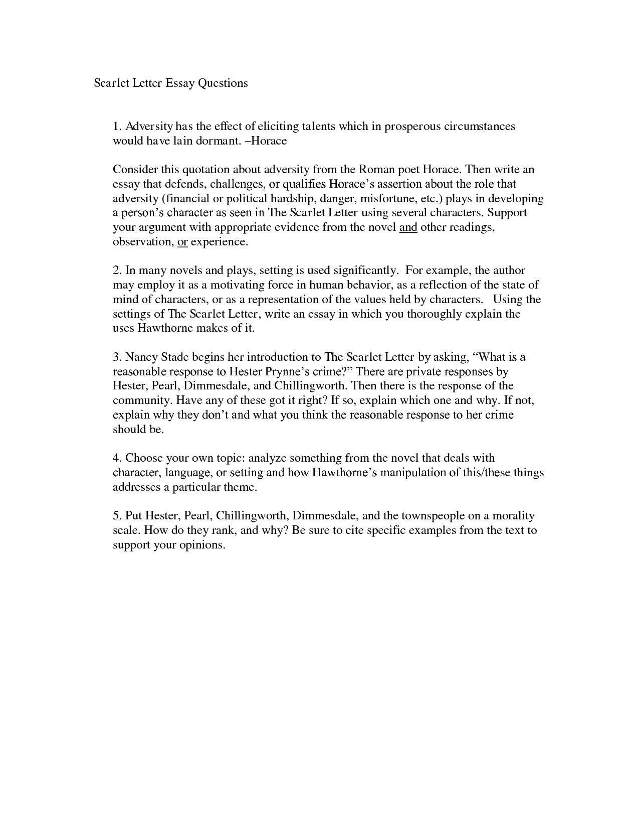 005 Scarlet Letter Essay Imposing Titles On Sin Pdf Full
