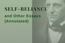 005 Self Reliance And Other Essays Annotated Essay Formidable Ekşi Self-reliance (dover Thrift Editions) Pdf Epub