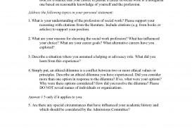 005 Social Work Personal Statement Essay Sample Essays For Graduate School L Rare